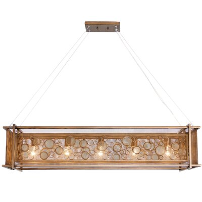 Fascination 5-Light Kitchen Island Pendant Finish: Hammered Ore