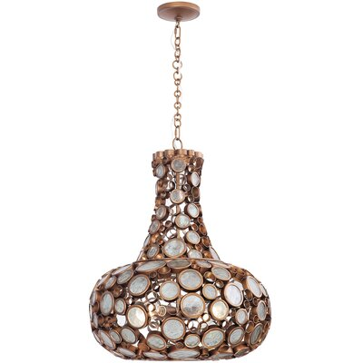Fascination 4-Light Mini Pendant Size: 36 H x 11 W x 11 D, Finish: Hammered Ore