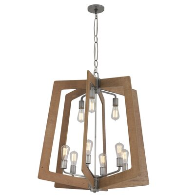 Blayze 9-Light Foyer Pendant Shade Color: Wheat