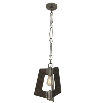 Blayze 1-Light Mini Pendant Shade Color: Faux Zebrawood