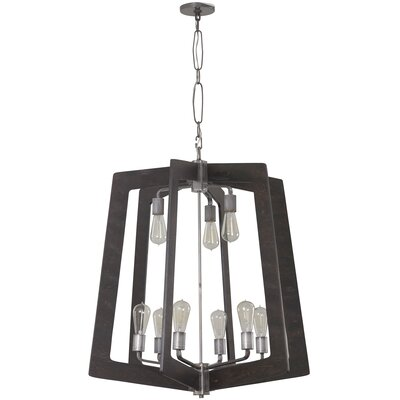 Lofty 9-Light Foyer Pendant Shade Color: Faux Zebrawood