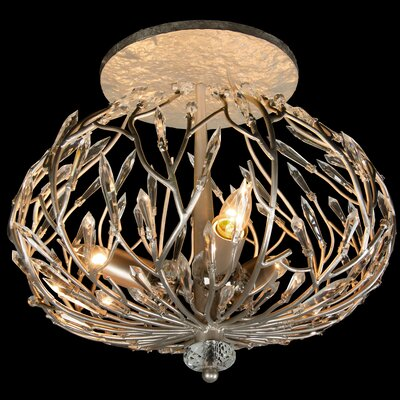Bask 3-Light Semi Flush Mount