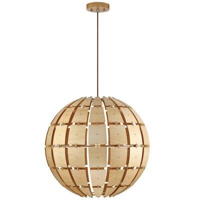 Wooda 1-Light Globe Pendant Size: Large