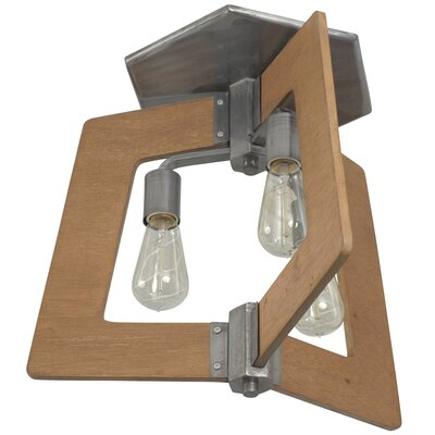 Blayze 3-Light Semi Flush Mount Shade Color: Wheat