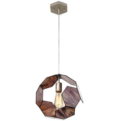 Honeycomb 1-Light Geometric Pendant