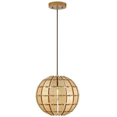 Wooda 1-Light Globe Pendant Size: Small