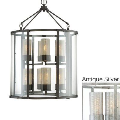 Jackson 8-Light Foyer Pendant Finish: Antique Silver