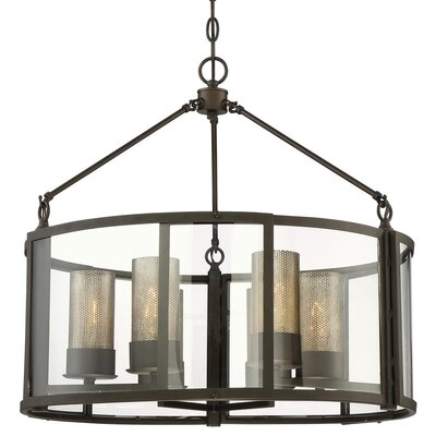 Jackson 6-Light Drum Pendant Finish: Rustic Bronze