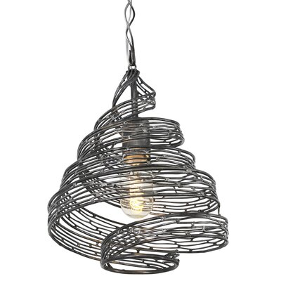 Flow 1-Light Geometric Pendant Finish: Steel