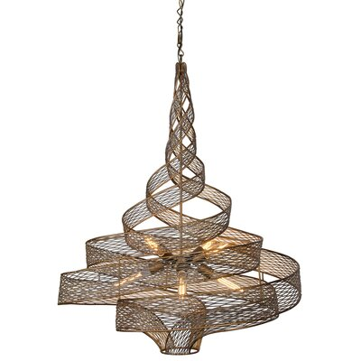 Flow 8-Light Pendant Finish: Hammered Ore