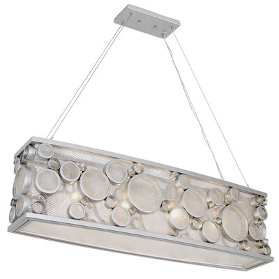 Fascination HO 4-Light Pendant Finish: Metallic Silver