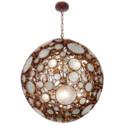 Fascination 8-Light Globe Pendant Finish: Hammered Ore