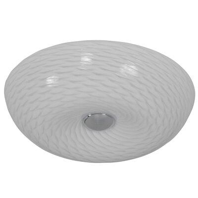 Swirled 1-Light Flush Mount Size: 3.75 H x 12 W x 12 D