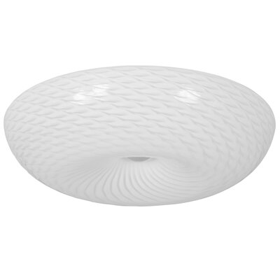 Swirled 1-Light Flush Mount Size: 5.5 H x 18 W x 18 D