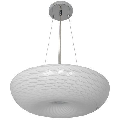Swirled 1-Light Inverted Pendant Size: 5 H x 15.5 W x 15.5 D