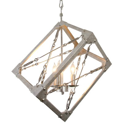 Askew 3-Light Geometric Pendant