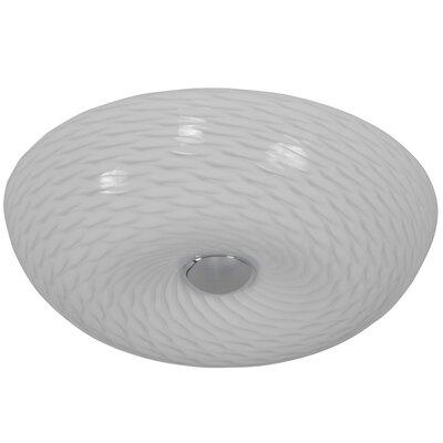 Swirled 2-Light Flush Mount Size: 3.75 H x 12 W x 12 D
