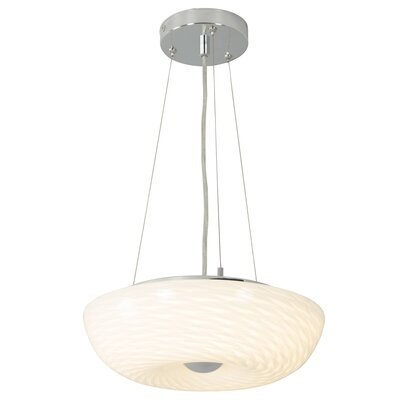 Swirled 2-Light Inverted Pendant Size: 4 H x 12 W x 12 D