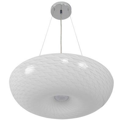 Swirled 3-Light Inverted Pendant