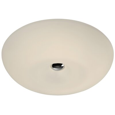 Swirled 1-Light Flush Mount Size: 4.75 H x 15.5 W x 15.5 D