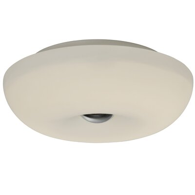 Swirled 1-Light Flush Mount Size: 3.75 H x 12 W x 12 D