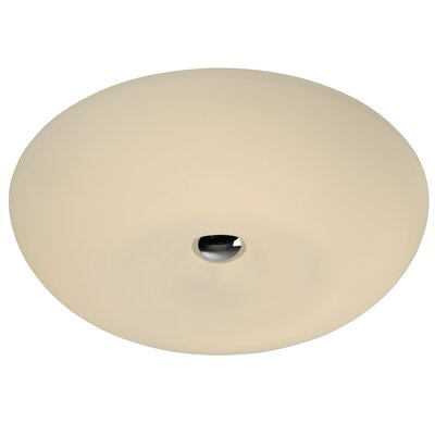 Swirled 2-Light Flush Mount Size: 4.75 H x 15.5 W x 15.5 D