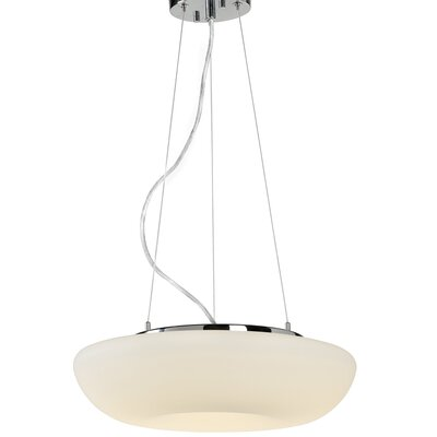 Swirled 2-Light Inverted Pendant Size: 5 H x 15.5 W x 15.5 D