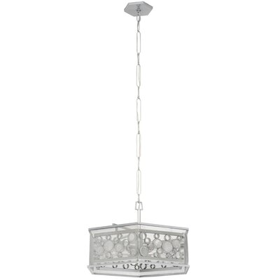 Fascination Hex 6-Light Foyer Pendant Finish: Metallic Silver