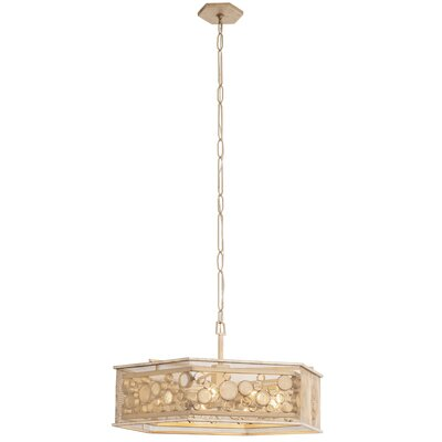 Fascination Hex 9-Light Pendant Finish: Zen Gold