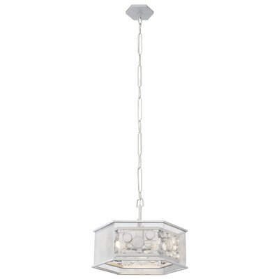 Fascination Hex 3-Light Foyer Pendant Finish: Metallic Silver/Recycled Clear Glass