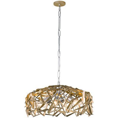 Bermuda 6-Light Foyer Pendant Finish: Silver/Champagne Mist