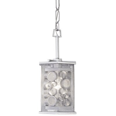 Fascination Hex 1-Light Mini Pendant Finish: Metallic Silver