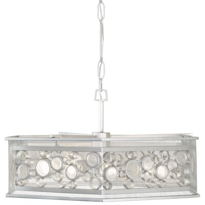 Fascination Hex 9-Light Pendant Finish: Metallic Silver