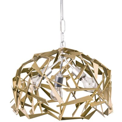 Bermuda 3-Light Foyer Pendant Finish: Silver w/ Champagne Mist