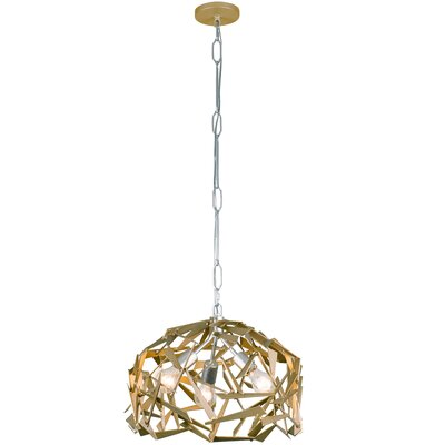 Bermuda 3-Light Foyer Pendant Finish: Silver/Champagne Mist