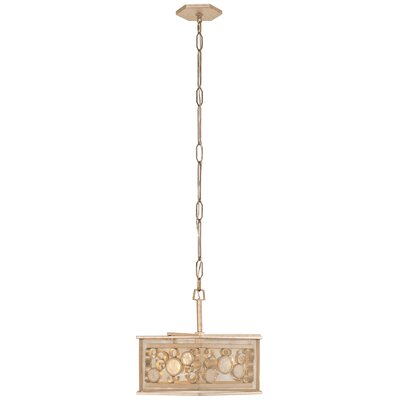 Fascination Hex 3-Light Foyer Pendant Finish: Zen Gold/Recycled Champagne Glass