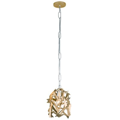 Bermuda 1-Light Foyer Pendant Finish: Silver/Champagne Mist