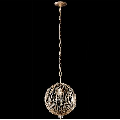 Bask Orb 1-Light Globe Pendant
