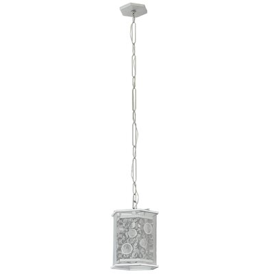 Fascination Hex 1-Light Foyer Pendant Finish: Metallic Silver