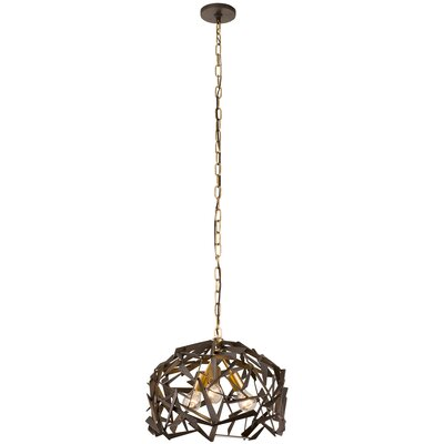 Bermuda 3-Light Foyer Pendant Finish: Antique Gold/Rustic Bronze