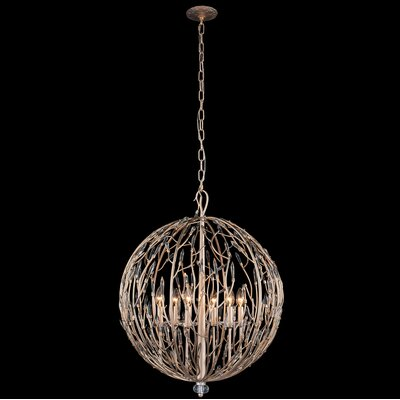 Bask Orb 6-Light Globe Pendant