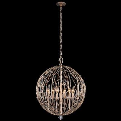 Bask Orb 6-Light Globe Pendant