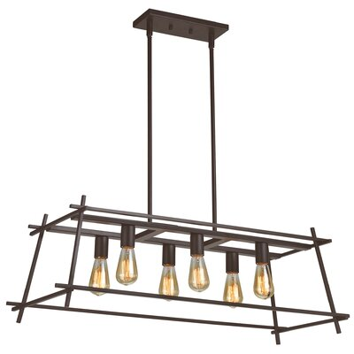 Hashtag 6-Light Kitchen Island Pendant
