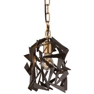 Bermuda 1-Light Foyer Pendant Finish: Antique Gold/Rustic Bronze