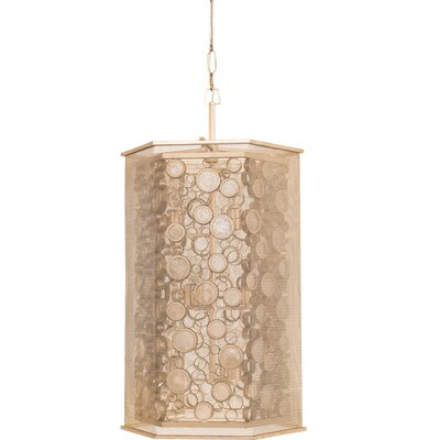 Fascination Hex 9-Light Foyer Pendant Finish: Zen Gold