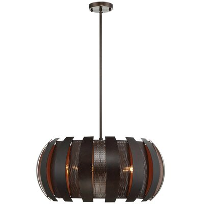 Sawyers Bar 2 Tone 4-Light Drum Pendant