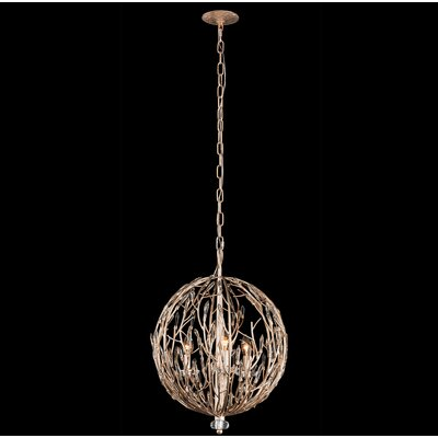 Bask Orb 3-Light Globe Pendant