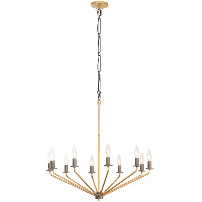 Jake 10-Light Candle-Style Chandelier