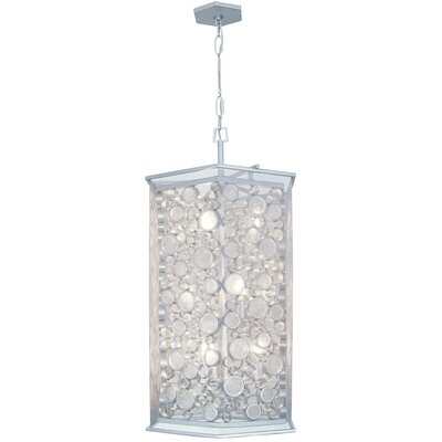 Fascination Hex 9-Light Foyer Pendant Finish: Metallic Silver