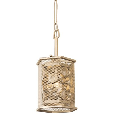 Fascination Hex 1-Light Mini Pendant Finish: Zen Gold